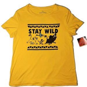 NWT Lion King Stay Wild T-Shirt XS